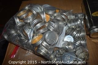 Lot of 1 QT Metal Cans with Screw Cap