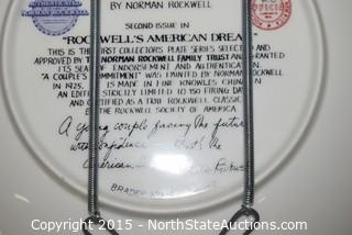 Lot of  Norman Rockwell Collector Plates