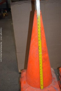 Lot of Safety Cones