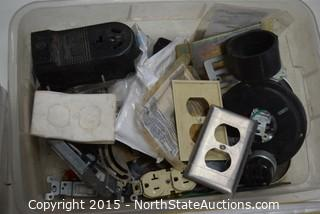 Lot of Hampton Bay Lightning and Misc Electrical Supplies