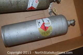 Acetylene Tanks with Gauge and Torch