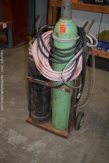 Oxegen and Acetylene Torch Kit and Cart