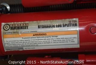 Central Machinery Hydraulic Log Spliter