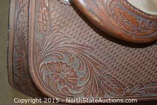 Bob Avila Silver Mounted Western Saddle