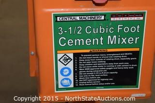 Central Machinery 3-1/2 Cubic Foot Cement Mixer