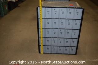 Combination Mail/Personal Belongings Box
