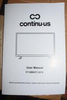 """Continu.us 28"""" LED TV"""