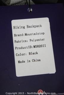 Mountaintop Hiking Backpack (Black)
