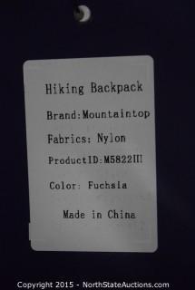 Mountaintop Hiking Backpack (Fuchsia)