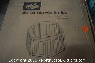 "Paw Land 30"" Tall Extra-wide Dog Gate"