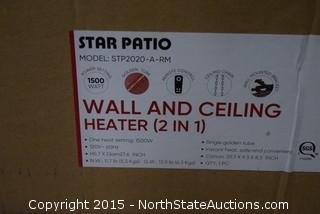 Star Patio Wall and Ceiling Heater (2 IN 1)
