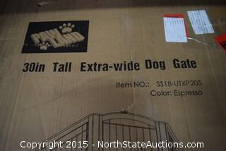 """Paw Land 30"""" Tall Extra-wide Dog Gate"""