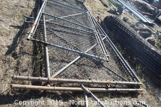Lot of Chain Link Fence/Gate