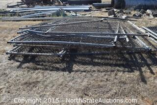 Lot of Chain Link Fence Panels