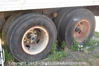 Brown Semi Trailer -  40' (PARTS ONLY)