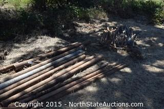 Lot of Misc Fence Posts