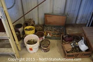 Lot of Misc Hardware and Ladder