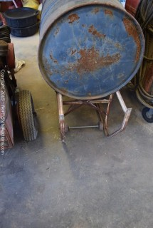 55 Gallon Drums and Cart