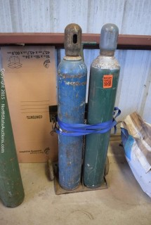 Oxygen & Acetylene Tanks and Dolly