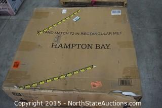Hampton Bay Rectangular Metal Table
