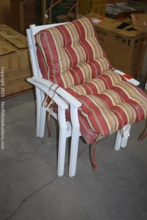 Lot of Patio Chairs With Cushions