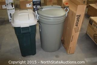 Lot of Garbage Cans
